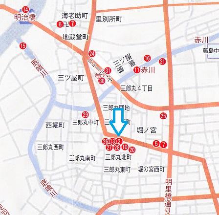 祇王屋敷跡位置図