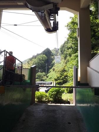 4八幡山ロープウエー(麓から)