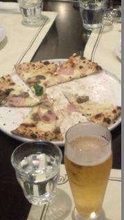 ピザハムと茸の