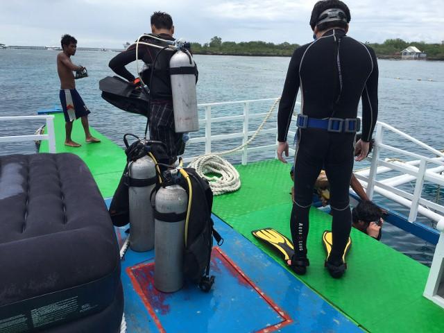 ダイビング客