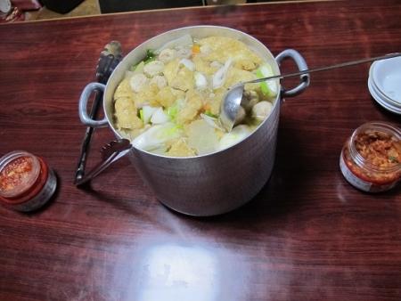 豚肉と油揚げの鍋