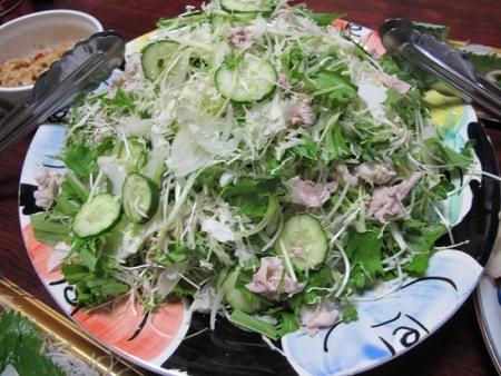 キャベツと水菜の豚しゃぶサラダ