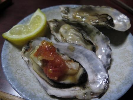 ぷりぷりの蒸し牡蠣