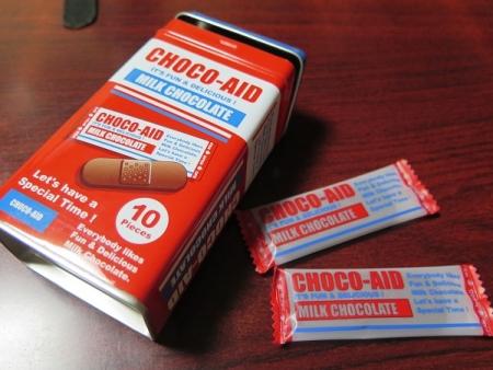 バンドエイド型チョコ