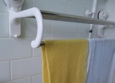 お風呂のタオル掛け