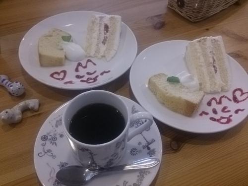 セットのケーキ