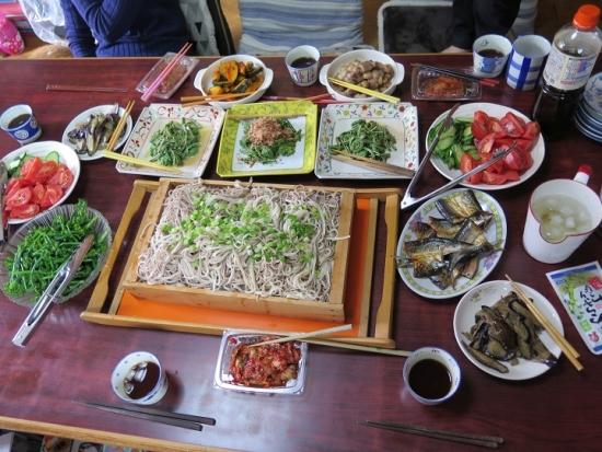 東北麺と色々薬味