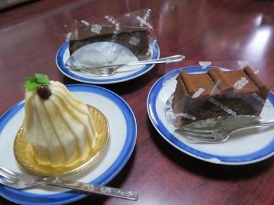 ホワイトモンブラン、ショコラカット、ザッハトルテ