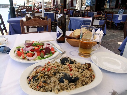 モリヴォスで昼食 (2)