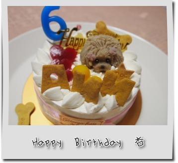 杏ちゃん6歳の誕生日ケーキ