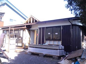 K邸大規模リフォーム外壁施工中下地