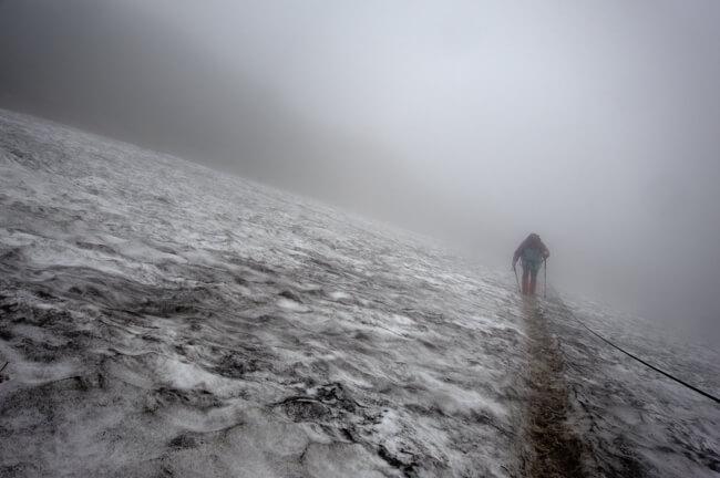 月山の雪渓