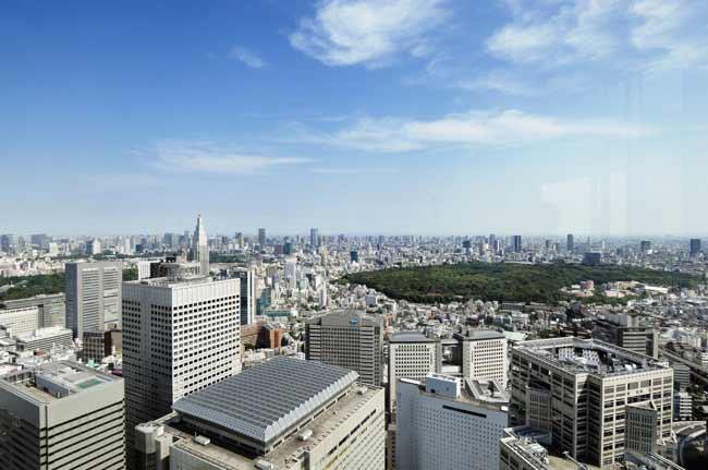東京都庁展望台からの景色