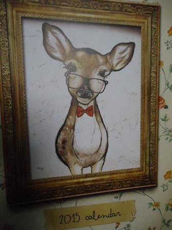 カレンダー鹿