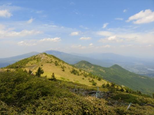 北峰と角間山