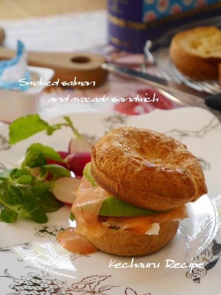 ポップオーバー サンドイッチ