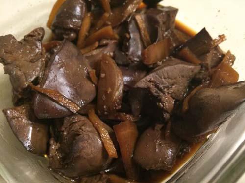 鳥レバーの生姜煮