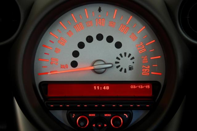 ミニのスピードメーター
