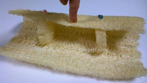 20150505ヘチマの帯枕(プレスのへちま使用で中は空洞)