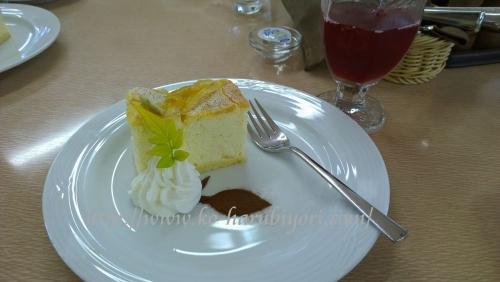 20150605ミント&レモンのチーズケーキ