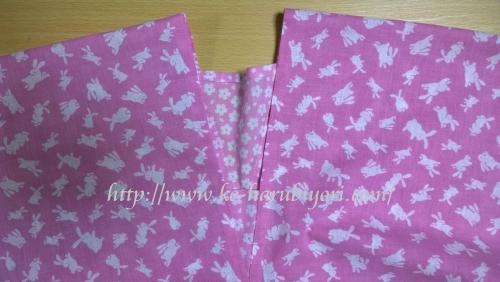 20150812四角衣(うさぎと桜)手作り