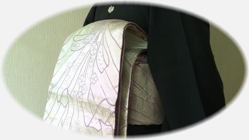 二重太鼓の柄合わせ●帯枕のガーゼ