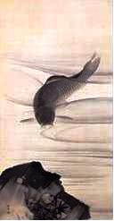 丸山応挙「鯉魚図」(左)