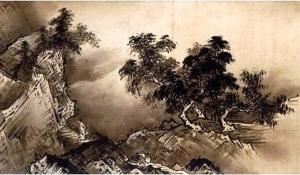 雪舟等楊「四季山水図(山水長巻)」(部分1)