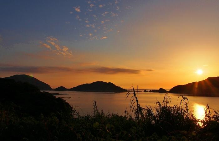 夕陽ポイントから 大明神橋