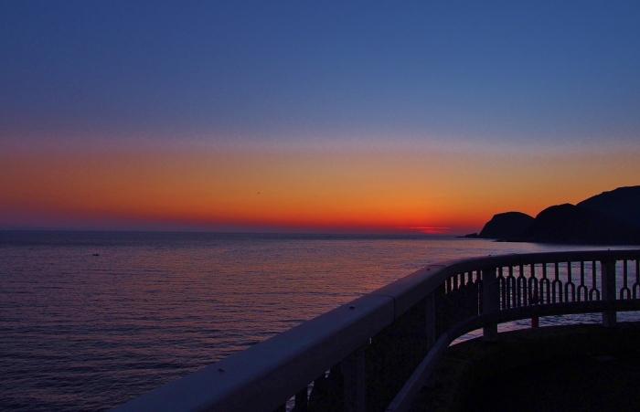 陽が暮れて 大明神橋