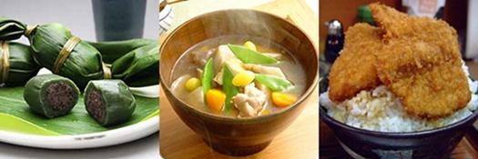 笹団子・のっぺ汁・タレカツ丼