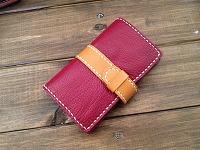 スマホケース手帳型赤キャメル201503291