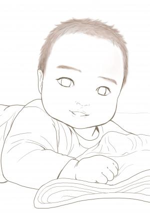 赤ちゃんイラストペン入れ_convert_20150424070744