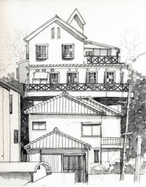 珈琲館オリエント グリザイユ (469x600)