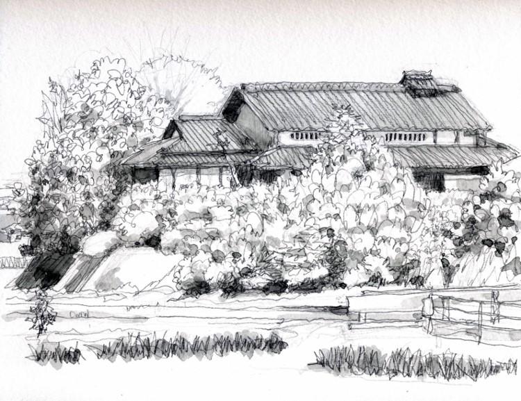 久御山の農家3グリサイユ (750x577)