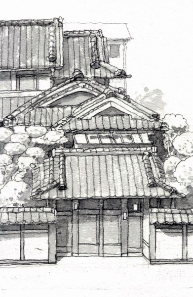 摂津の旧家 グリザイユ (391x600)