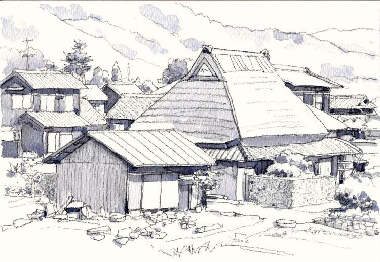 加茂町の民家南側 グリザイユ (750x517)