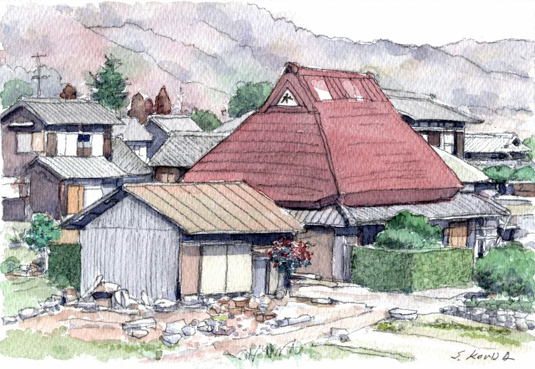 加茂町の民家南側 SM (750x517)