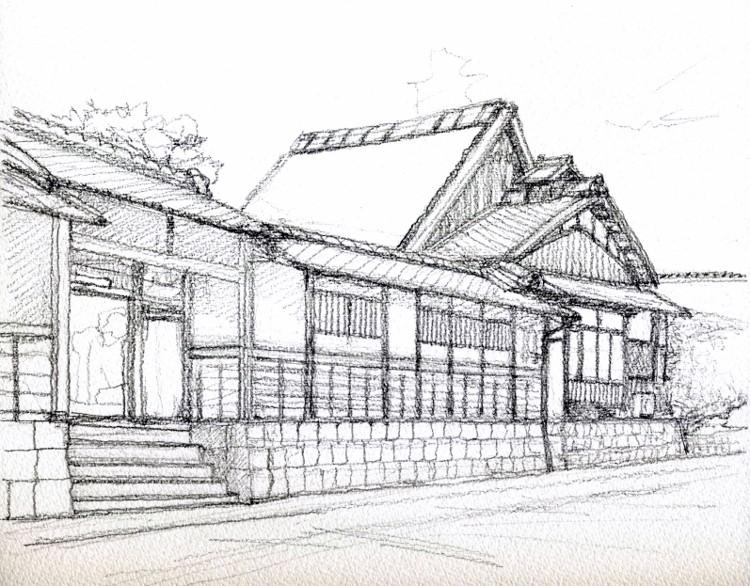 京田辺の旧家2 デッサン (750x586)