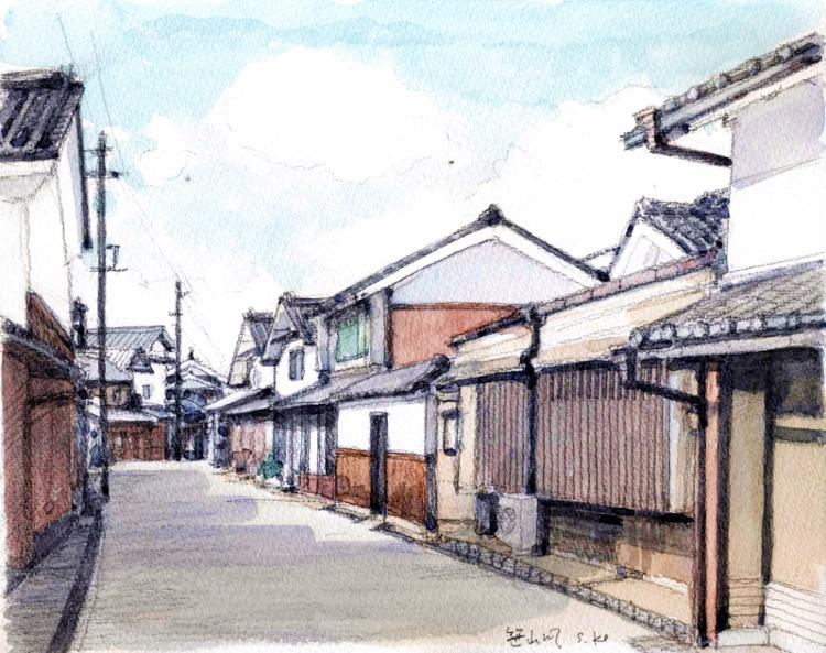 丹後篠山の街並み (750x593)