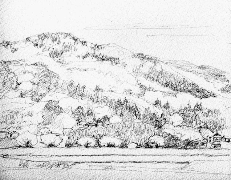 三田の郊外 デッサン (750x585)