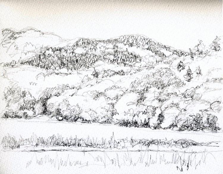 猪名川の山里 デッサン (750x586)