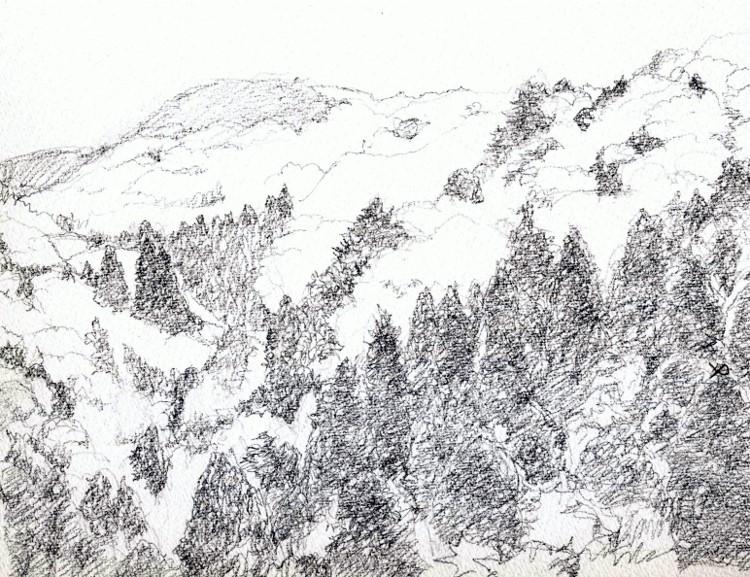 春の山2 デッサン (750x577)