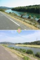 一鍬田の河道掘削1