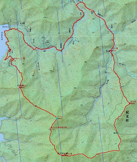 20141115仙千代・古ヶ丸山地図1日目