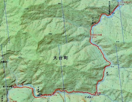 20141122大台ヶ原山地図1日目