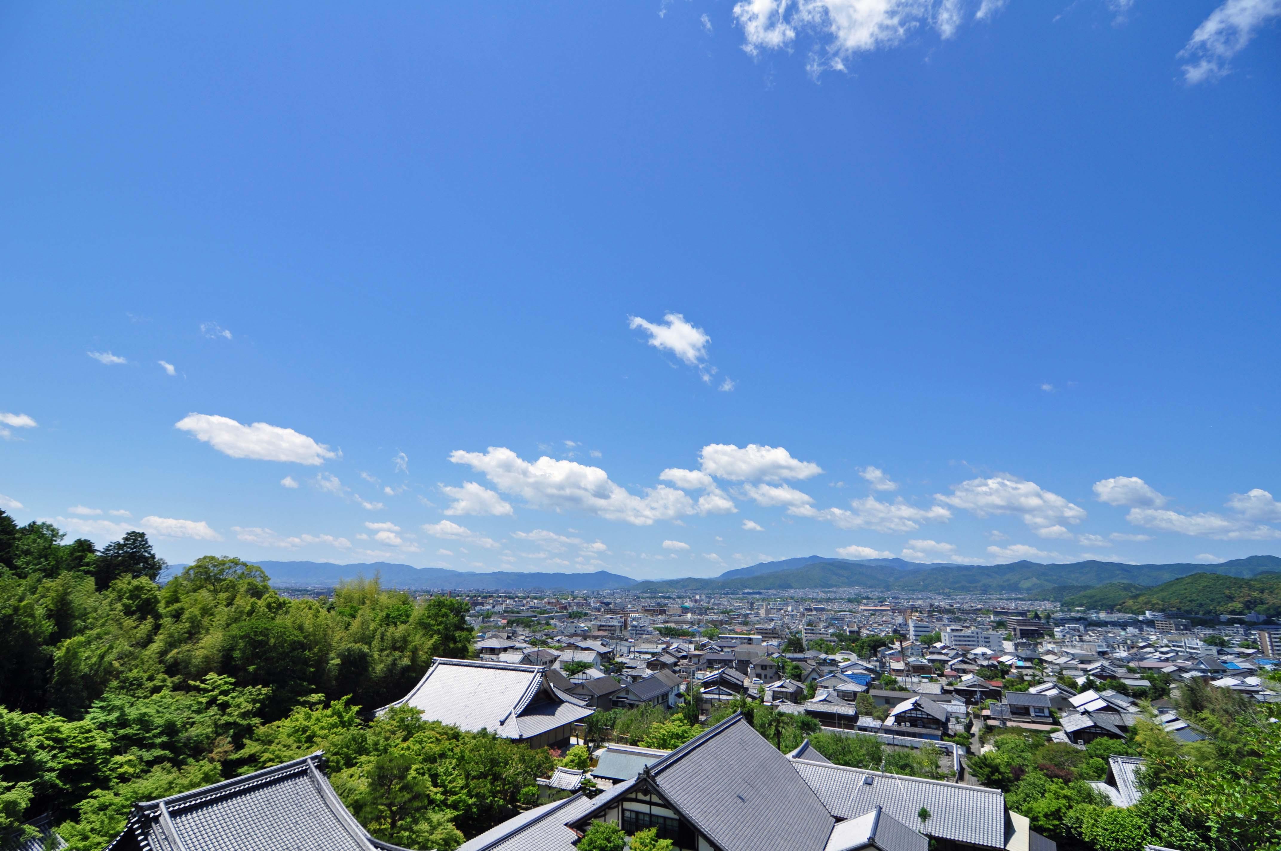 洛北からの京都盆地
