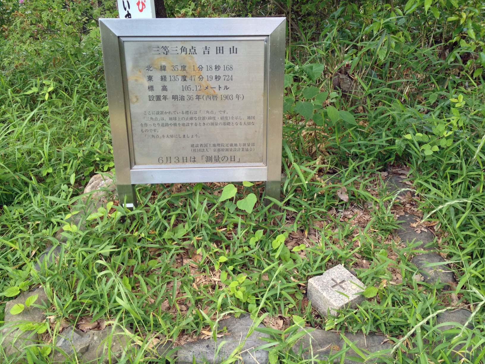 吉田山の三角点