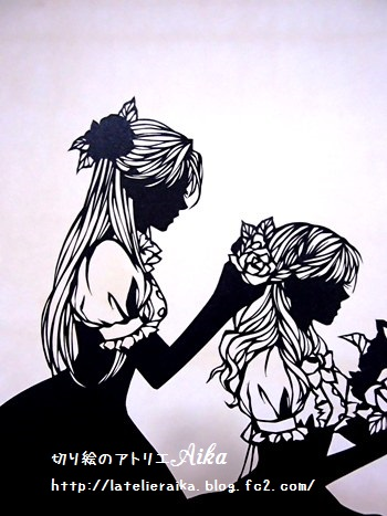雪白と薔薇紅③
