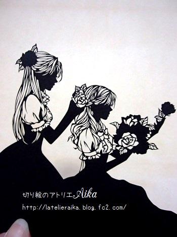 雪白と薔薇紅②
